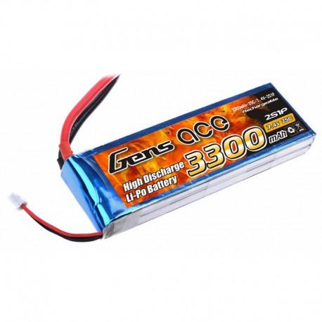 Accu LiPo GENS ACE 3300mAh 2S 25C