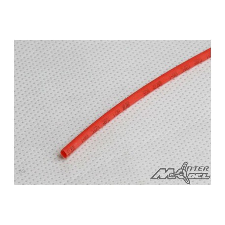 Gaine thermorétractable 10mm rouge 1M