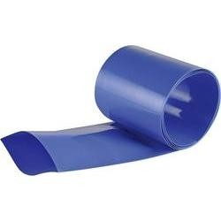Gaine thermorétractable 50mm bleue 1M