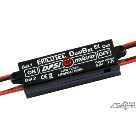 DPSI Micro DualBat 5.9V/7.2V F3A Edition (Prises JR/JR)