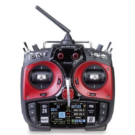 RADIO MZ-24 PRO HOTT + RECEPTEUR GR-18+MICRO SD + VALISE GRAUPNER