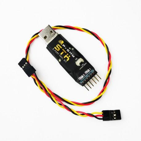 FrSky STK à Smart Port pour mise à jour et réglage des récepteur avec gyros