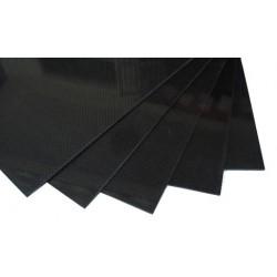 PLAQUE CARBONE 3K VERNIS 400 x 500 x 1.2 mm
