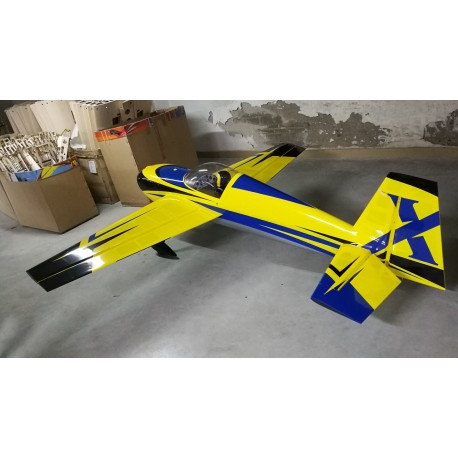 "SLICK 580 105.5"" ARF JAUNE/BLEU EXTREME FLIGHT"
