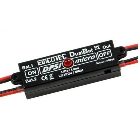 DPSI Micro DualBat 5.9V / 7.2V MPX-2xMPX ( Prises JR/JR )