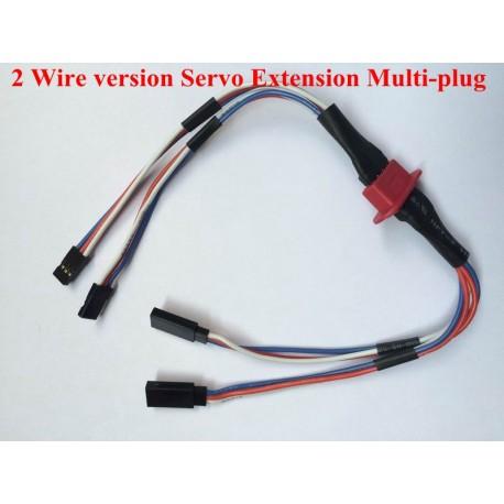 Connecteur d'aile assemblé pour 2 servos avec fil 20AWG