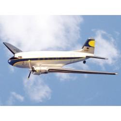 DOUGLAS DC-3 bleu/blanc 1800mm VQ MODEL