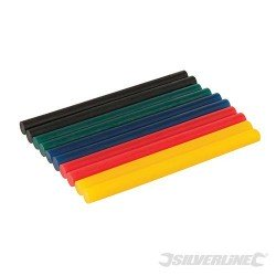 LOT DE 10 BATONNETS DE COLLE  COLORES 7,2 x 100 mm