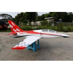 """DOLPHIN JET ARF (ailes trainer) + trains rentrants PILOT-RC 86"""" (04)"""
