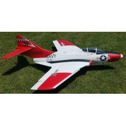 "F9F COUGAR ""ROUGE"" 1562MM ARF TOP RC MODEL"
