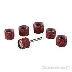Ensemble de ponçage sur tambour 12,70mm pour outil rotatif 7 pcs