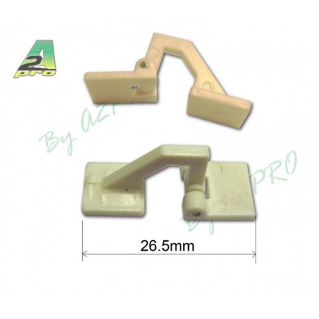 CHARNIERES DEPORTEES 26.5X10MM 10 PIECES