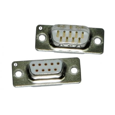 Connecteur D-sub 9 broches, fiche et prise