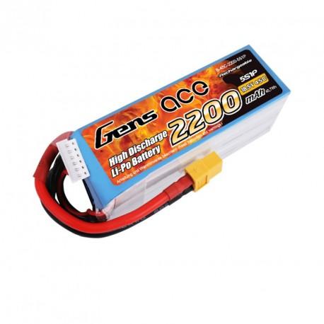 Accu LiPo GENS ACE 2200mAh 5S 45C