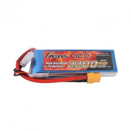 Accu LiPo GENS ACE 2200mAh 2S 25C