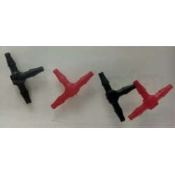 RACCORD DURITE EN T ROBART ( 4 PIECES )