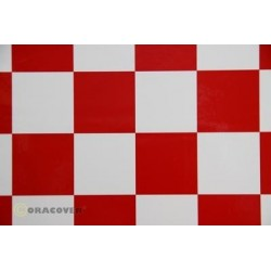 ORACOVER FUN 5 DAMIER BLANC/ROUGE 10M