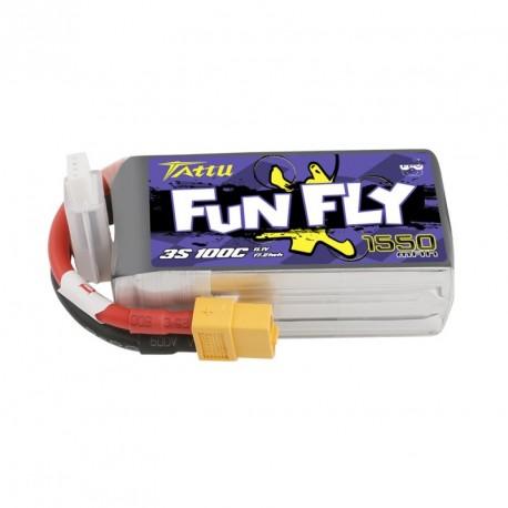 Accu LiPo Tattu Funfly serie 1550mAh 3S 100C