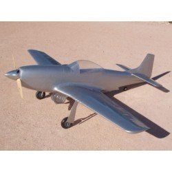 """P51D MUSTANG """"SILVER"""" 2260MM ARF TOP RC MODEL"""