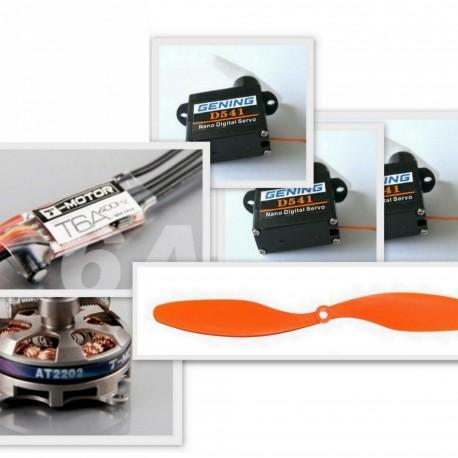 Set équipement pour Clik 21 (motorisation, servos)