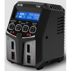 CHARGEUR T100  DUO AC 2x50W SKYRC