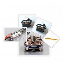 Set équipement pour Crack Wing (motorisation, servos)