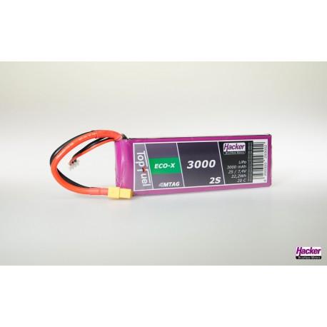 Accu LiPo TopFuel ECO-X 3000mAh 2S 20C