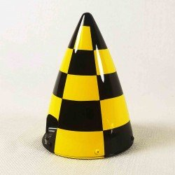 "CONE CARBONE 127MM (5"") damier jaune et noir Extreme Flight"
