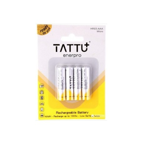 Batterie rechargeable NiMH AAA TATTU 1.2V-800mAh (X4)