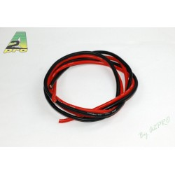 FIL SILICONE 8 AWG / 8.37mm² ROUGE+NOIR 2X1M