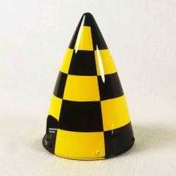 "CONE CARBONE 127MM (5"") damier jaune et noir Extreme Flight"