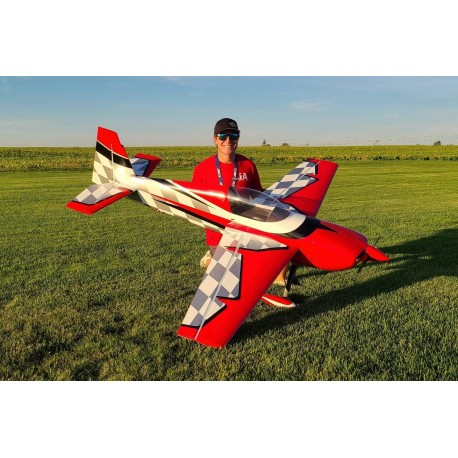"EDGE SLICK 580 85"" ROUGE ET BLANC 2.16M EXTREME FLIGHT"