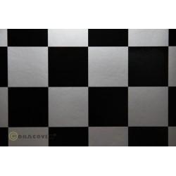 ORACOVER FUN 5 DAMIER ARGENT/NOIR 2M