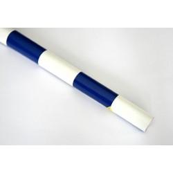Entoilage damier 200X63cm blanc/bleu 50x50