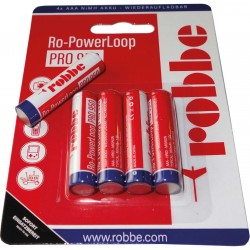 Batterie rechargeable NiMH AAA ROBBE 1.2V-950mAh (X4)