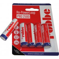 Batterie rechargeable NiMH AAA ROBBE 1.2V-2500mAh (X4)