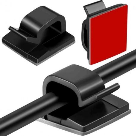 SUPPORT AUTO COLLANT FIL/CABLE (X10)