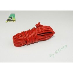 FIL SILICONE 18 AWG / 0.82mm² ROUGE 1M