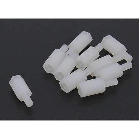 Entretoises Nylon 21mm X  5.6mm M3 (8pcs)