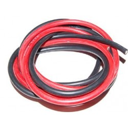 FIL SILICONE 14 AWG / 2.12mm² ROUGE+NOIR 2X1M