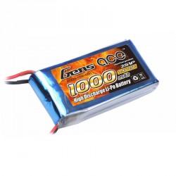 Accu LiPo GENS ACE 1000mAh 2S 25C