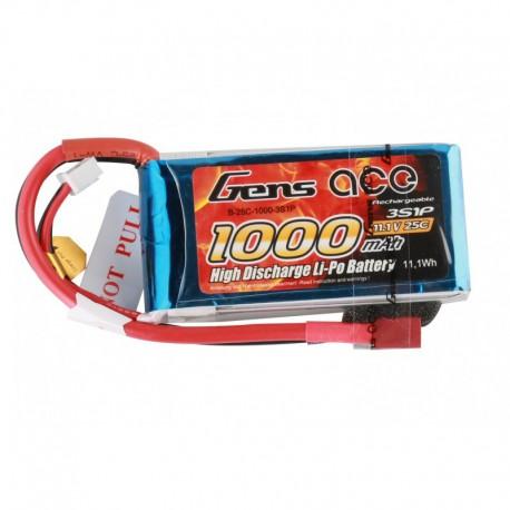 Accu LiPo GENS ACE 1000mAh 3S 25C