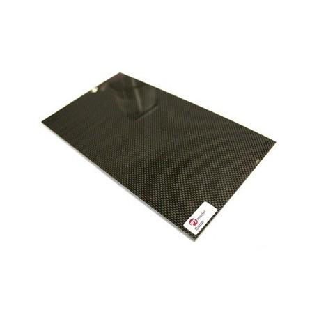 PLAQUE CARBONE/BALSA 290 x 160 x 2 mm
