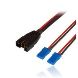 Câble adaptateur MPX mâle / 2X UNI JR 25cm