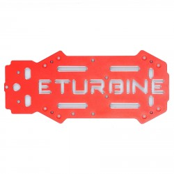 Plaque châssis supérieure optionnelle alu TB250 eTurbine