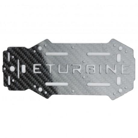 Plaque châssis supérieure carbone TB250 eTurbine