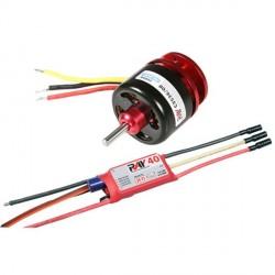MOTEUR CDR CD3536/08 1000KV 102grs 400W + contrôleur 40A
