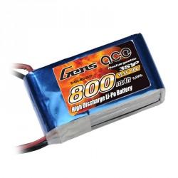 Accu LiPo GENS ACE 800mAh 3S 40C