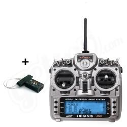 Radio Taranis PLUS 16 voies valise souple ( mode 2) + récepteur 8 voies (R9M) FrSky